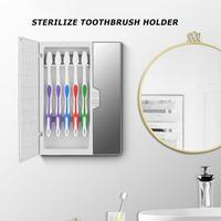 Ultraviolet Disinfection Toothbrush Rack Powered By Usb For 5 Toothbrushes 360 Degree Toothbrush/Razor Uv Disinfector