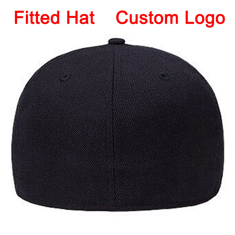 Fitted Hat Size 52 To Size 64 Big Size Tennis Golf Full Close Cap Custom Logo Design Baseball Full Closing Hat