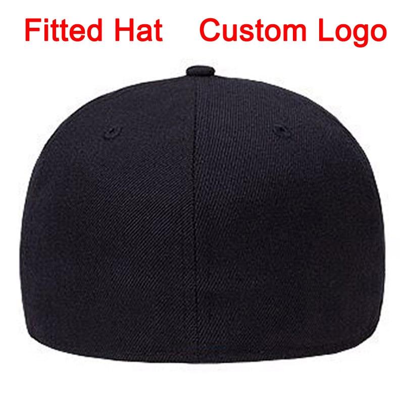 Fitted Hat Size 52 To Size 64 Big Size Tennis Golf Full Close Cap Custom Logo Design Baseball Full Closing Hat