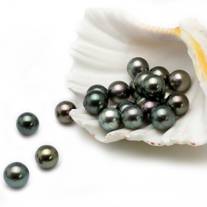 Image 3 - Natural Tahitian Black Pearl Beads for jewelry making 12 13MM,Round Peacock Green Big Loose Beads, DIY pearl disperse seeds