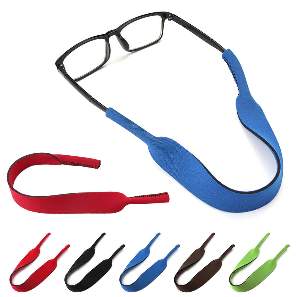e4b796d86e9 1pc Neoprene string summer Sunglasses Band Strap rope Eyeglasses Strap Head  Band Floater Cord Interchangeable Glasses