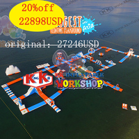 Manufacturer sale floating inflatable games inflatable open water park for sea