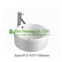 hot sell small size ceramic bathroom sink,factory ceramic sink basin,China porcelain ware wash basin with cabin
