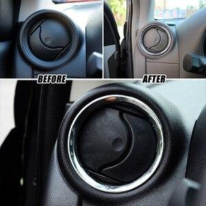Image 3 - לניסן Versa Almera Latio/C אוויר Vent טבעת כרום כיסוי לקצץ רכב סטיילינג אביזרי 2012 2013 2014 2015 2016 2017 2018