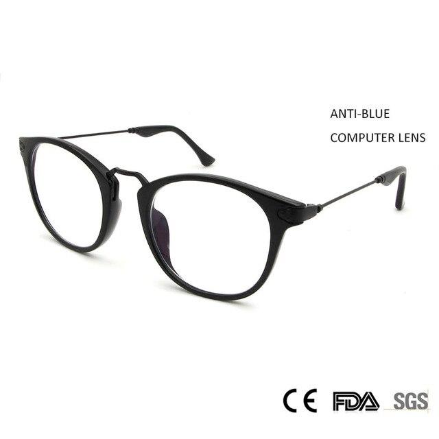 b6d9debe0e Sorbern Retro Big Round Glasses Anti Blue Ray Computer Glasses Eyeglass  Frames Female Women TR90 Memory Spectacles Frames Male