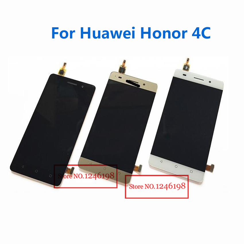 White Black Gold Full LCD Display Touch Screen Digitizer Assembly For Huawei Honor 4C Replacement Parts
