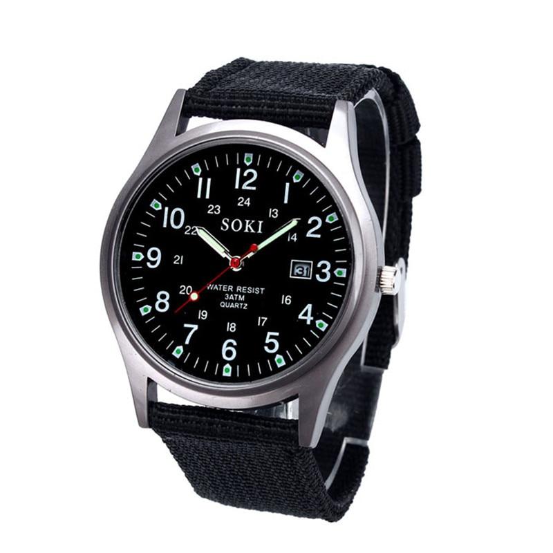 Man Watch Relogio Masculine 2018 Luxury Canvas Fashion Mens Quartz Analog Watches Watch Quartz Wrist Quartz Watch Hot Sale Gift