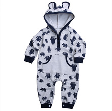Newborn Infant Baby Boy Girl Kids Winter Clothes Cotton Warm Bear Long Romper Jumpsuit Outfit
