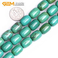 Natural Vintage Old Turquoises Gem Stone Column Prayer Beads For Jewelry Making DIY 15 Inches Strand