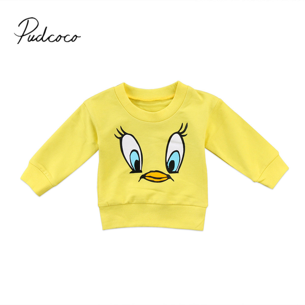 Cute Cartoon Yellow Bird T Shirt Top Toddler Kids Baby Girls Boy