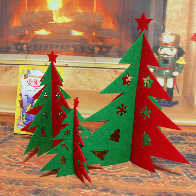 christmas decorations non woven hollow christmas tree hotel mall decoration natal navidad christmas - Discount Christmas Decorations