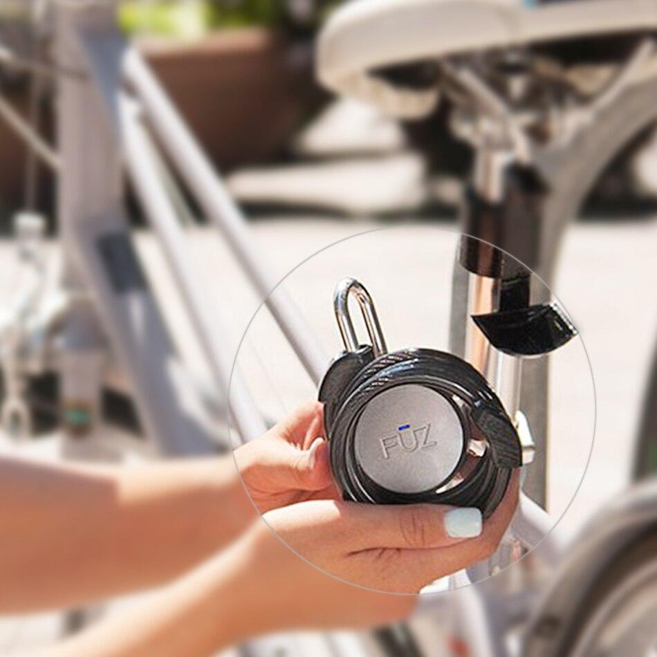 FUZ Noke Keyless Bluetooth Smart Vorhängeschloss Keyless Smart Lock Mobilen iOS/Android app Steuer Tragbare Runde Lock - 4