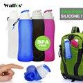 WALFOS Lebensmittelqualität 500 ML Kreative Faltbare Faltbare Silikon trinken Sport Trinkflasche Camping Reise kunststoff fahrrad flasche