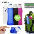 WALFOS de Qualité Alimentaire 500 ML Creative Pliable Pliable Silicone boisson Sport Bouteille D'eau Camping Voyage en plastique vélo bouteille