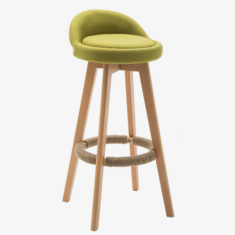 Terrific Wood Bar Stool With Upholstered Seat And Back Swivel Chair For Commercial Industrial Kitchen Cafe Bar Stool Furniture Chair 73Cm Dailytribune Chair Design For Home Dailytribuneorg
