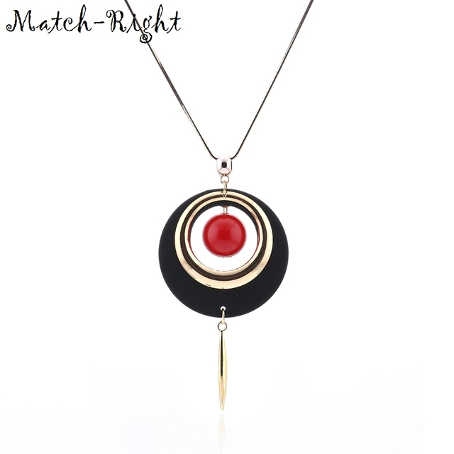 Match right women maxi necklaces pendants statement long costume match right women maxi necklaces pendants statement long costume sweater necklace with plastic pendant mozeypictures Choice Image