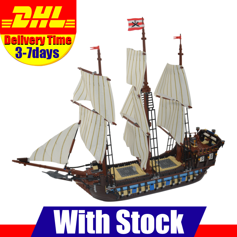IN STOCK NEW LEPIN 22001 Pirate Ship Imperial Warships Model Building Kits Block Briks Toys Gift 1717pcs Clone 10210 new lepin 22001 pirate ship imperial warships model building kits block briks gift 1717pcs compatible diy 10210 educational toys