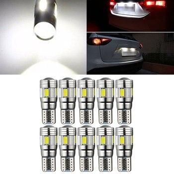 10PCS T10 W5W Car Dashboard Light Parking Tail Beads Car Side Light Car Wedge Light Durable Stop Light Rear 6LED Light mobile phone