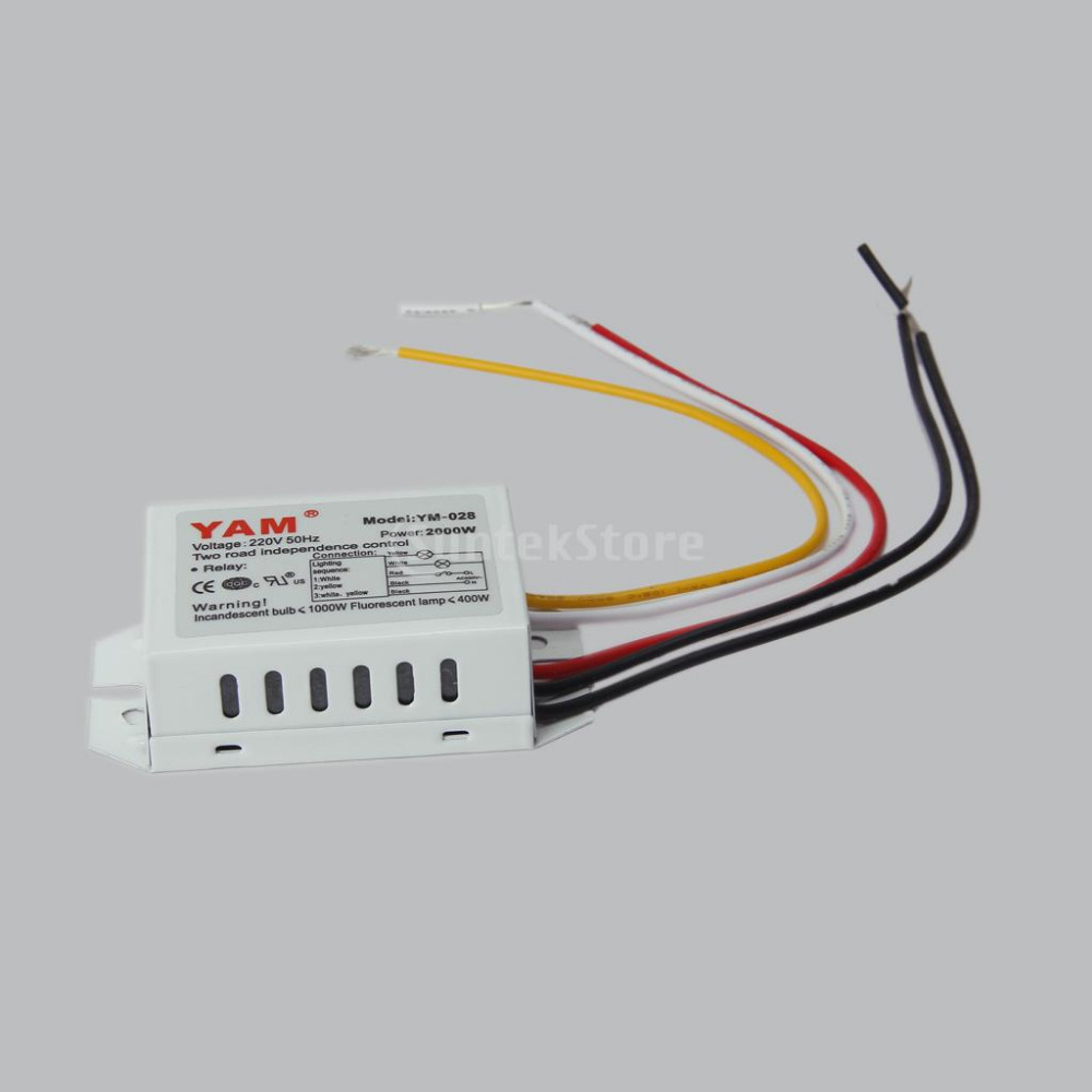 Free Shipping Digital Subsection Switch 2 Way 3 Section Lighting ...