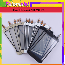 10Pcs/lot New 5.0For Huawei Y3 2017 CRO-U00 CRO-L02 CRO-L22 Touch Screen TouchPanel Sensor Digitizer Front Glass Touchscreen ремни narvin 340544 cro tobacco