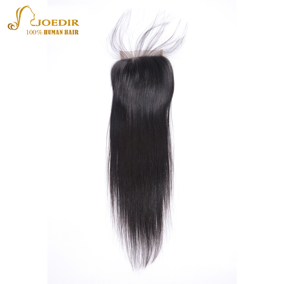Joedir Hair Peruvian Straight 4 * 4 Lace Closure Middle Free Part - Skönhet och hälsa - Foto 3