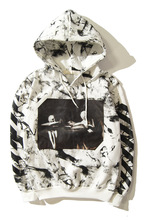 Off white hoodie brand snow pattern