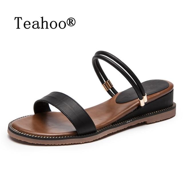 2223a3942c3 New 2018 Fashion Sandals Peep-toe Flat Shoes Gladiator Sandals Women Summer  Ladies Dress Shoes Woman Beach Shoes Flat Sandals