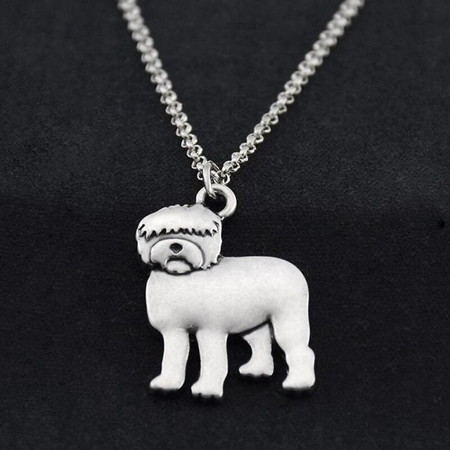 Us 14 06 40 Off Retro Hippie Old English Sheepdog Maxi Necklace Boho Dogs Chain Anime Best Friend Gift Necklaces For Women Men Jewelry Chocker In