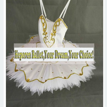 Customized White Swan Ballet Tutus For Adult or Children,White Tulle Performance Competition Ballet Dance Tutu Dress Free Ship