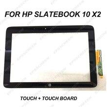 Nuovo 10.1 Sostituire Digitizer Pannello Fit per Hp Slatebook 10X2 Dello Schermo di Tocco di Vetro Anteriore di Tocco Senso di Riparazione con tocco di Bordo