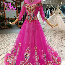 AIJINGYU Wedding Dress Indian Long Sleeved 2 Piece Gowns