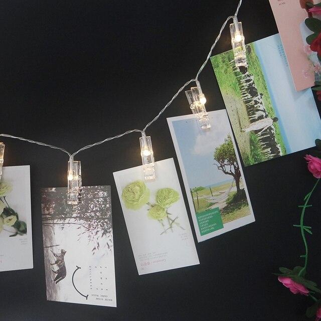 Novelty Fairy String Photo Clips Led Light Stringfashion Holiday