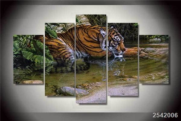 Hd Printed Tiger Figure Painting On Canvas Room Decoration Print Poster Picture Canvas Free Shipping/Ny-2152 Christmas gift