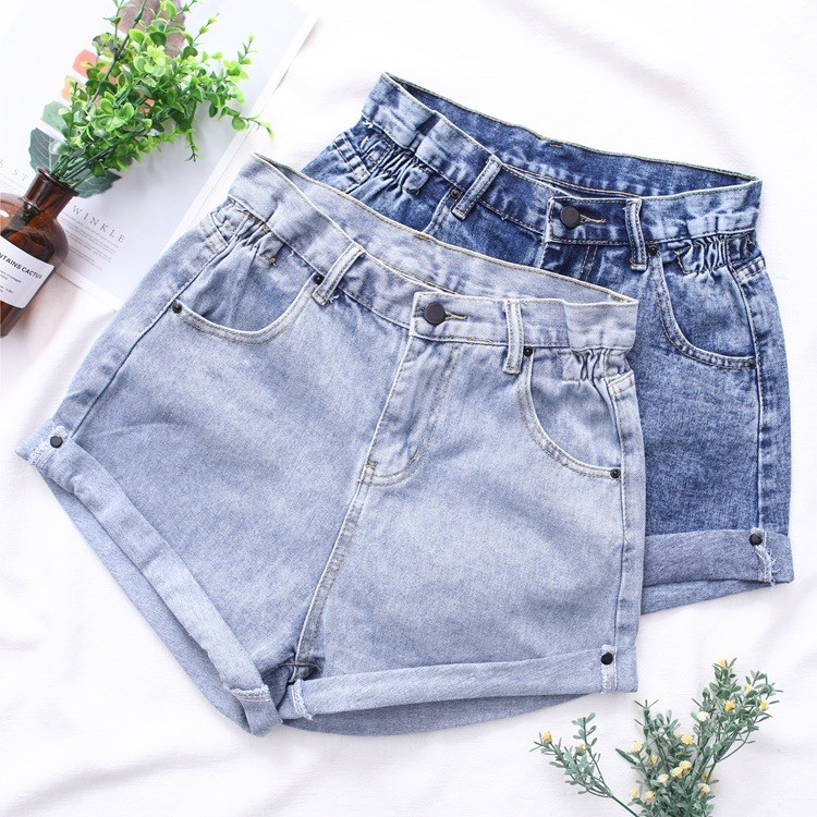 2019 Summer Ripped Shorts High Waist Hot Denim Shorts Korean Streetwear Sexy Short Jeans