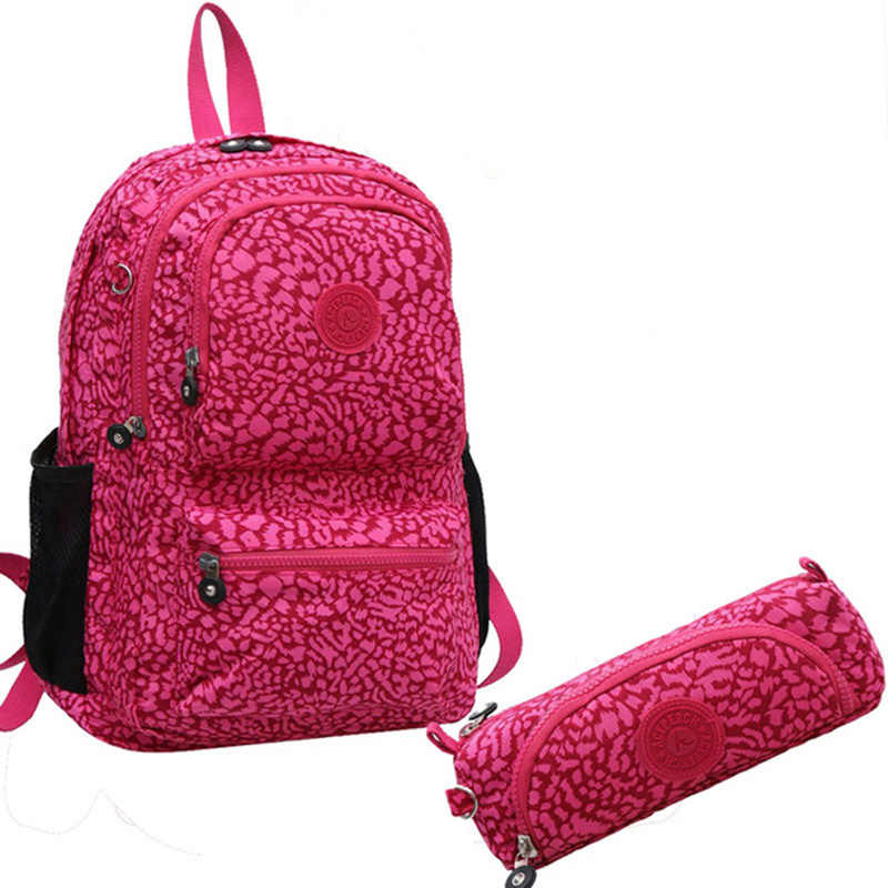 Aceperch Wanita Nylon Tahan Air Ransel Sekolah Ransel untuk Gadis Remaja Mochila Feminina Asli Kasual Laptop Bagpack Wanita
