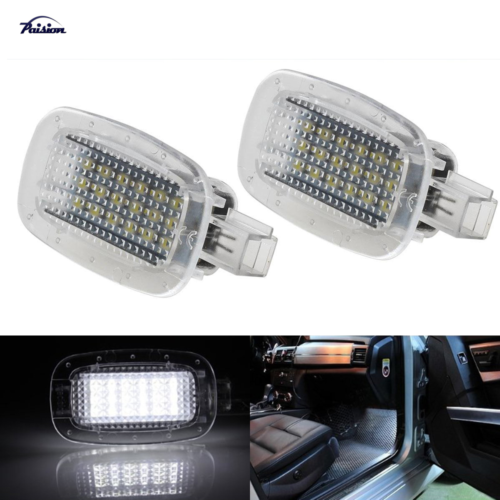 2PCS LED Courtesy Door Footwell Luggage Trunk Vanity Mirror Glove Box Ligh