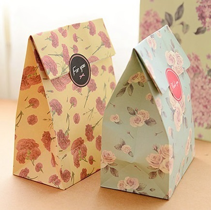 Aliexpress buy 8 sets paper bag flowers design gift packaging 8 sets paper bag flowers design gift packaging birthday party candy holding mightylinksfo