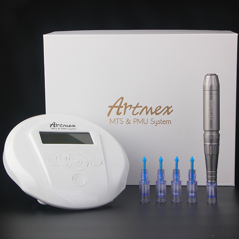 2019 New Model Permanent Makeup Eyebrow Tattoo Machine With Digital Control Panel Micropigmentation Device Rotary Pen Artmex V6