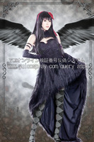 Puella Magi Madoka Magica Akemi Homura Cosplay Costume Demon Black Dress