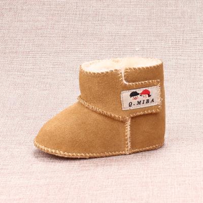 Los Niños Del Cuero genuino Zapatos de Invierno Rusia Bebé Botas de Nieve Infantil, Además de Terciopelo de Algodón Recién Nacido Inferior Suave antideslizante Botas Calientes
