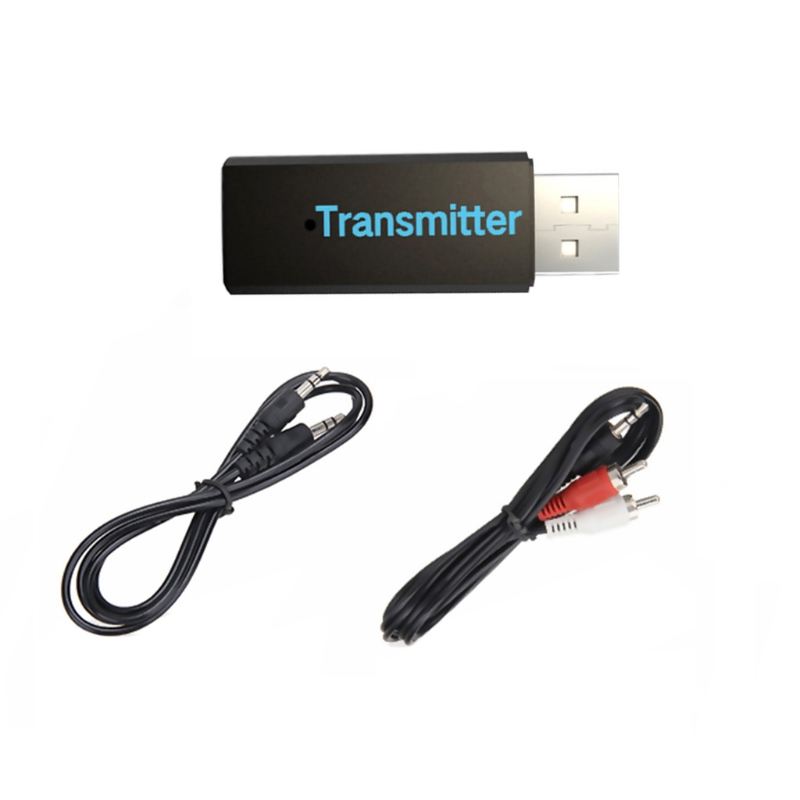 OOTDTY USB Bluetooth 3.0 Wireless Stereo Audio Music Transmitter For TV MP3 PC Laptop