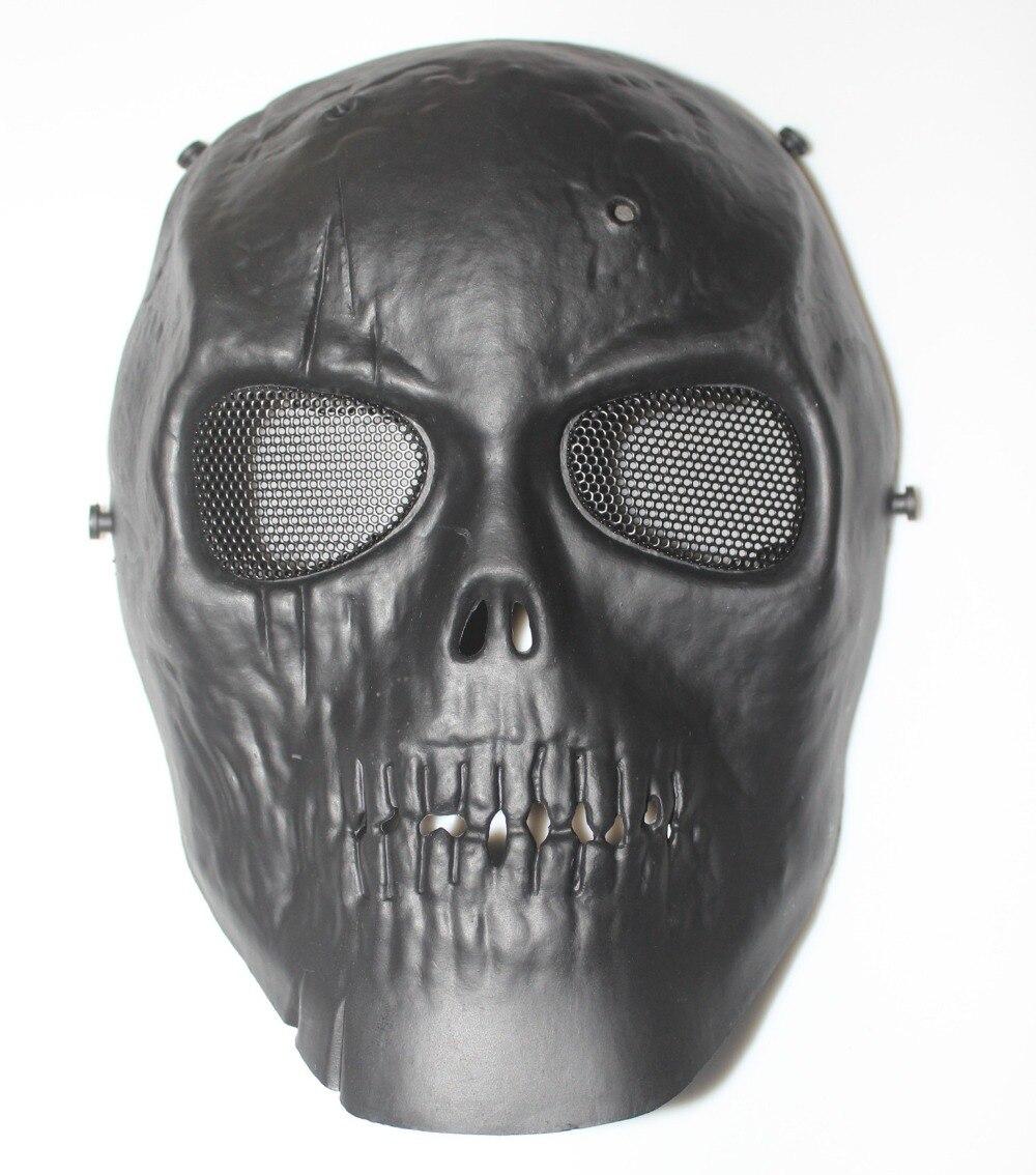 TACTIQUE VITESSE M06 AIRSOFT PAINTBALL COSPLAY PLEIN VISAGE PROTECTION CRÂNE MASQUE (Noir Fantôme)