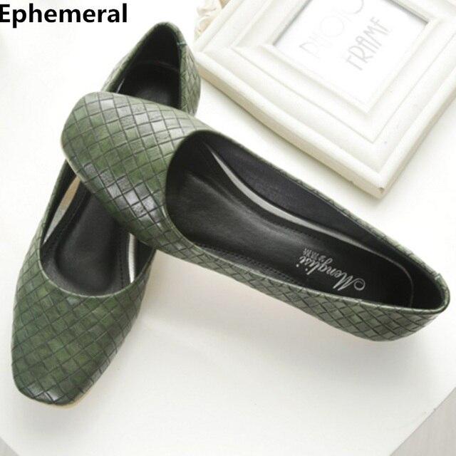 2a1b35caa Senhoras sapatilhas sapatos de sola macia do dedo do pé quadrado mulheres  low top slip-