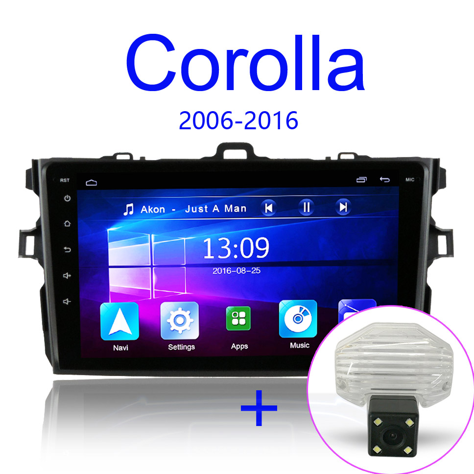 2 5D android 8 1 Car Radio Multimedia Player For Toyota Corolla E140 150 2007 2008