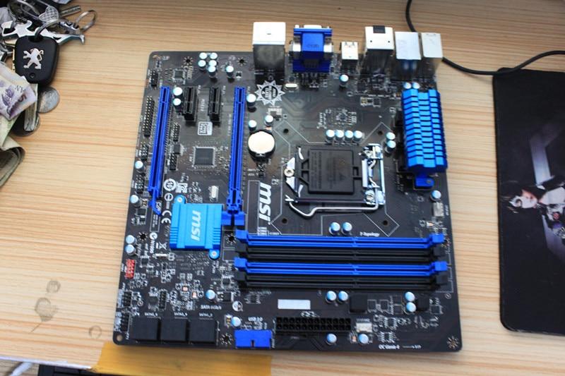 MSI Z87M-G43 LGA 1150 Z87 motherboard supports the G3220 E3-1230 V3 CPU msi original zh77a g43 motherboard ddr3 lga 1155 for i3 i5 i7 cpu 32gb usb3 0 sata3 h77 motherboard