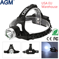 AGM HeadLamp CREE XML 1800LM T6 LED Waterproof 18650 Head lamp Rechargeable Torch Head Light For Outdoor Climbing Camping
