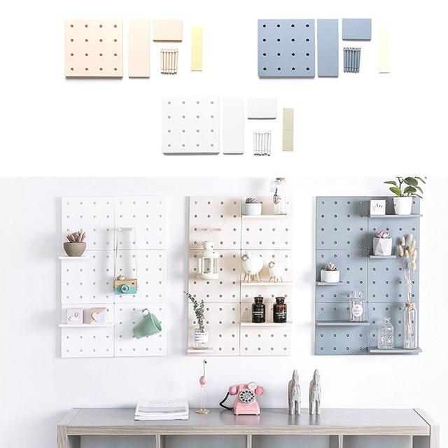 Lubang Papan Plastik Rak Dapur Rumah R Tidur Dinding Strorage