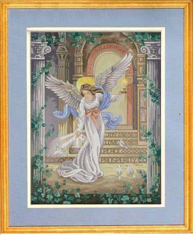 cs-2146 Cross Stitch Kit Millennium Angel Goddess and Dove Doves dim 3870
