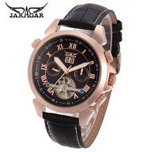 2017 JARAGAR Men's Erkek Kol Saati Luxury Man Auto Mechanical Date Tourbillon Wrist Watch Gift Box Free Ship