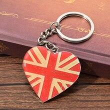 Vicney Heart-shaped United Kingdom Keychain Zinc Alloy Keyring For Key Best Key Chain Gift For Friend цена
